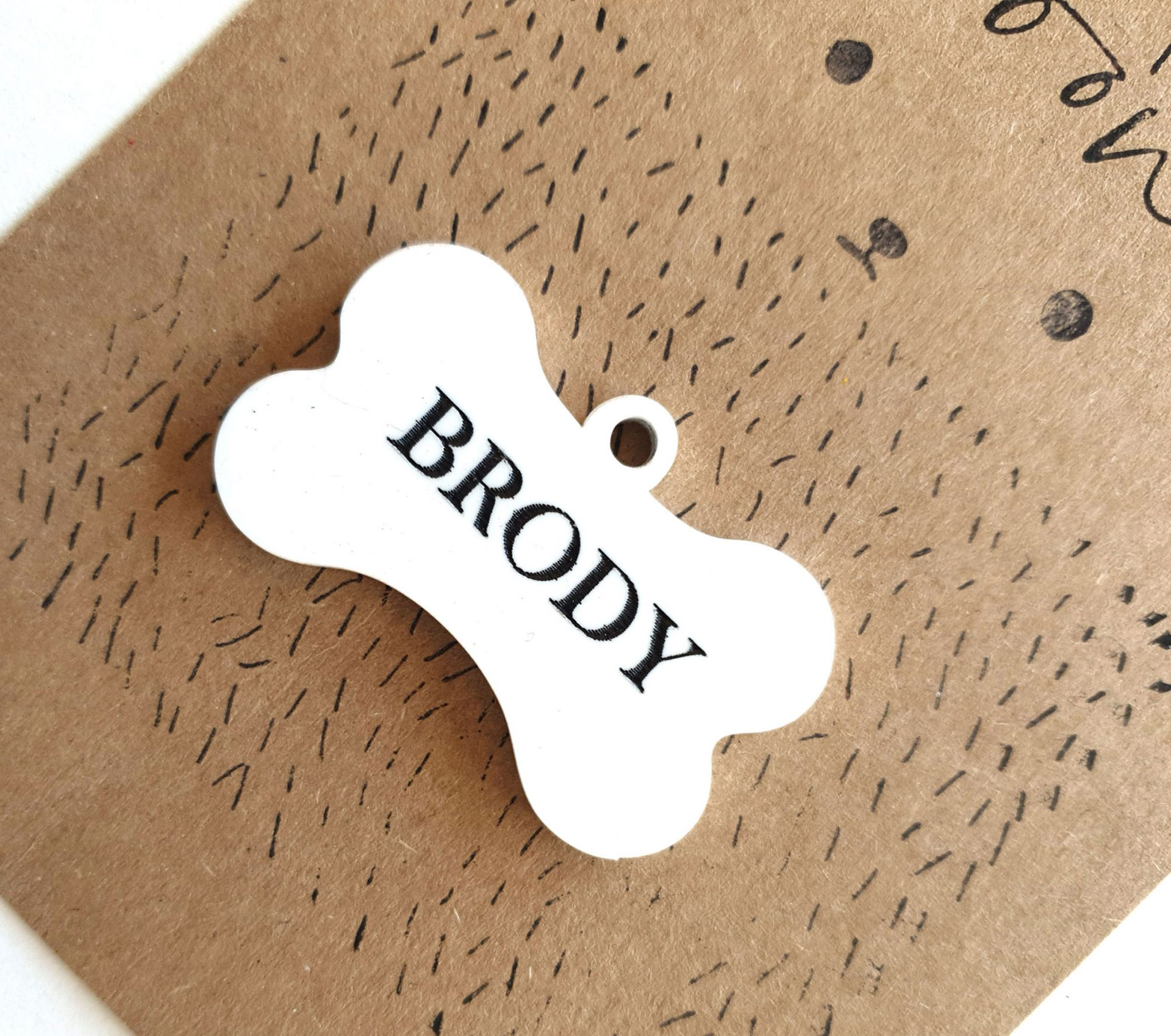 Personalised Acrylic Bone Dog tag